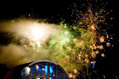Навальнiца - Фото фейерверка в Логойске (Международный фестиваль)