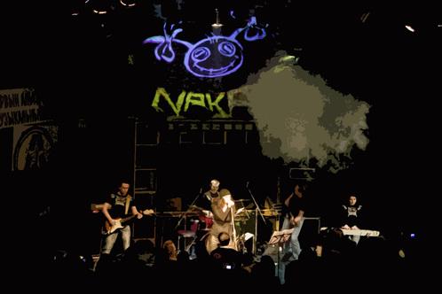 Рок-группа Naka на сцене Реактора